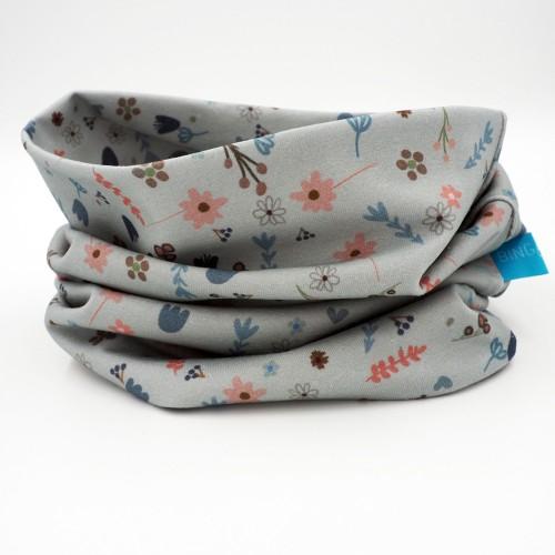 Organic Jersey Loop Scarf Flowers - unisex tube scarf | bingabonga