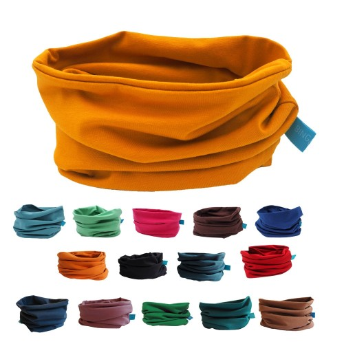 Unisex Loop Scarf UNI for kids & adults - plain eco cotton | bingabonga