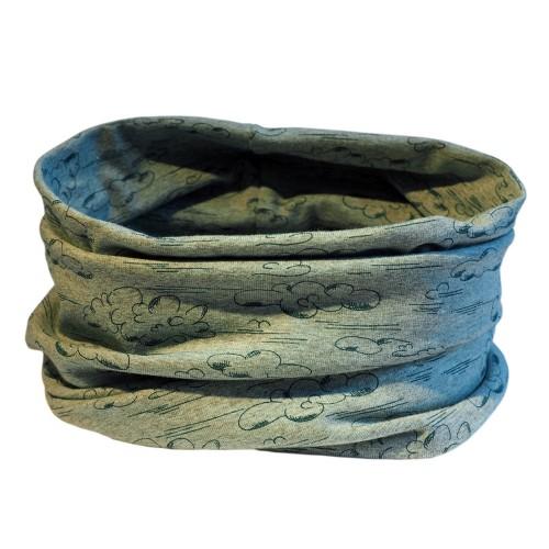 Organic Jersey Loop Scarf Clouds - unisex tube scarf | bingabonga