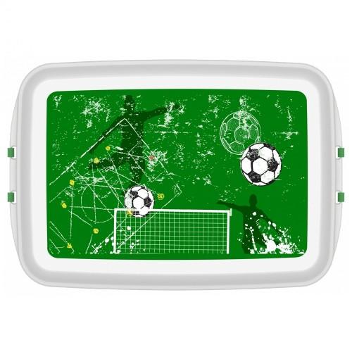 Eco Lunchbox of Bioplastics with FOOTBALL Print | Biodora