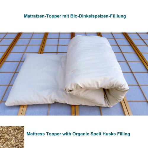 Mattress Topper with Organic Spelt Husks, 6cm high | speltex