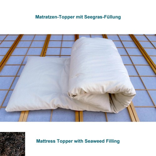 Mattress topper with Eelgrass-Natural-Rubber Filling | speltex