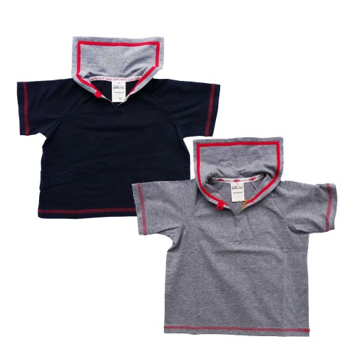 Baby Sailor Shirts Short-Sleeved Shirt, Eco Cotton | Ulalue