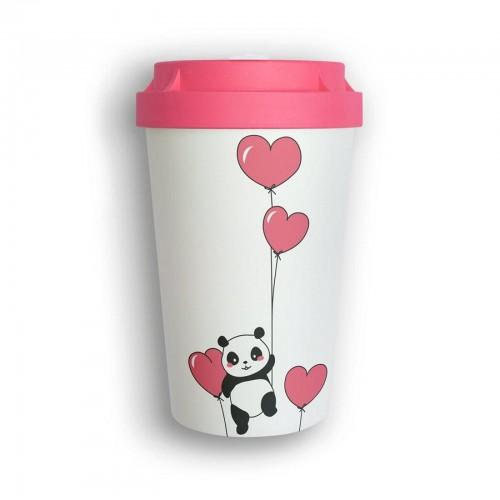 Organic Reusable Takeaway Cup Heybico Panda Love