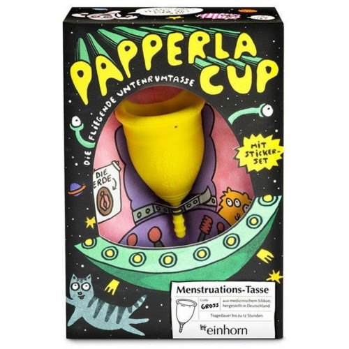 Menstrual Cup Papperlacup - medical-grade silicone | einhorn