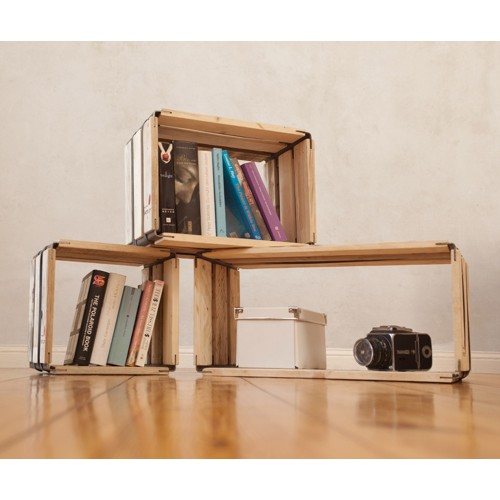 moveo. VIA 30.XX shelving module of recycled wood | reditum