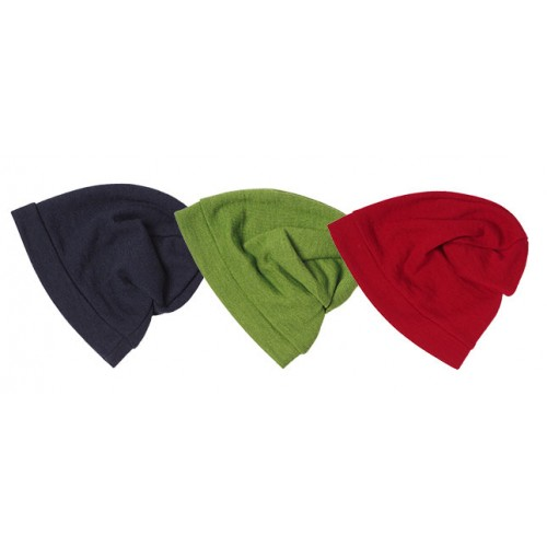 Damen Wollmütze Beanie Bio-Wolle/Seide