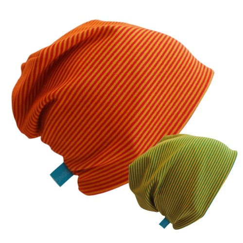 Mini stripes Beanie Hat 'Line' Eco Cotton Jersey | bingabonga