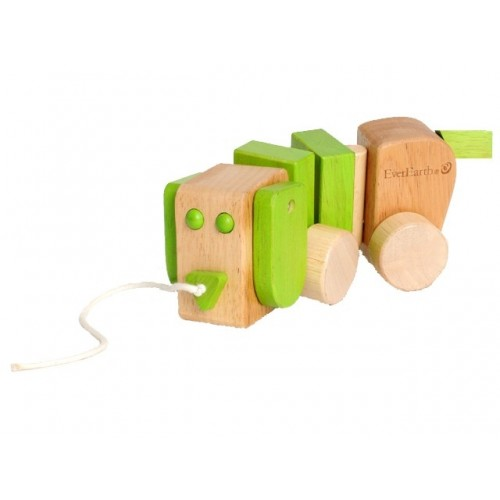EverEarth Pull along Dog of FSC® wood - eco wooden toy