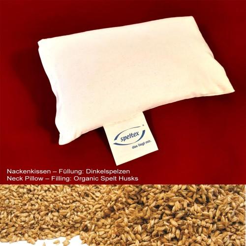 Eco Neck Pillow Organic Spelt Husks & Natural Rubber | speltex