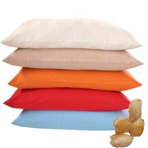 Eco Neck Pillow Organic Millet Husks & Natural Rubber   speltex