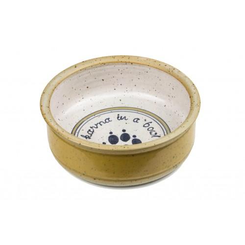 Futternapf Wassernapf aus Keramik in gelb für Hunde & Katzen
