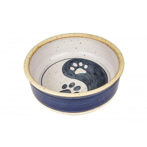 Futternapf Wassernapf aus Keramik in blau für Hunde & Katzen
