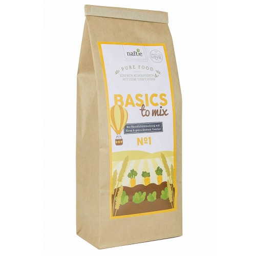 vegane Bio Basis-Flocken für Hunde Basics to Mix No.1