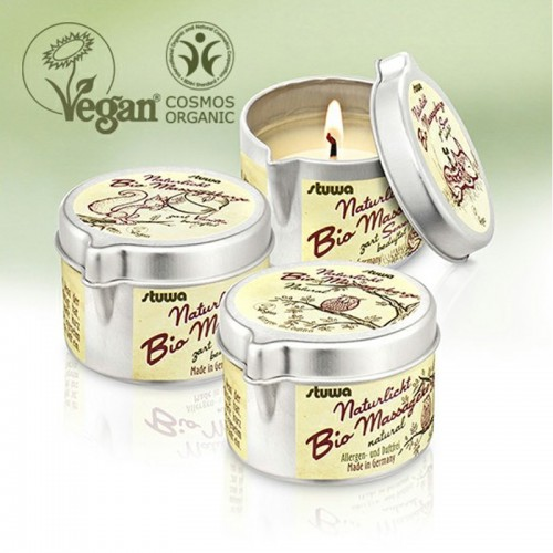 NATURELIGHT Vegan BIO Massage Candle | stuwa