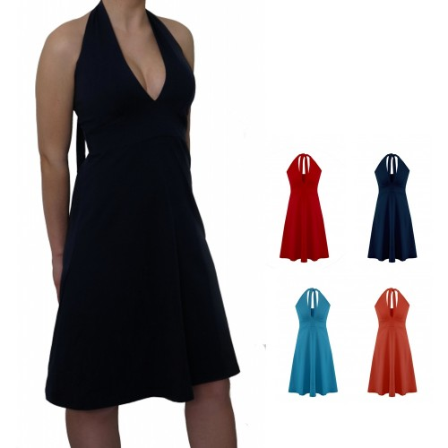 Halter-neck dress Marilyn Monroe style - Organic Jersey
