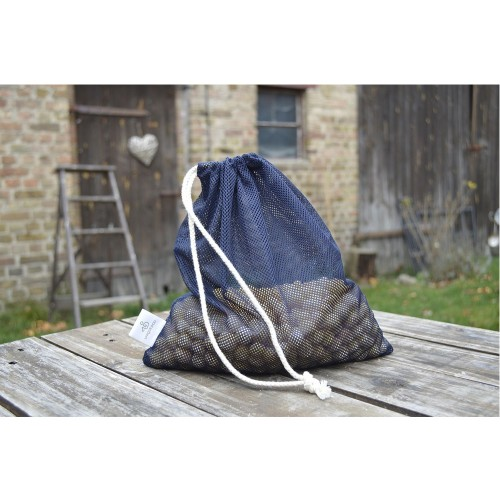 Dog Treats Mesh Bag, with Hemp Drawstring