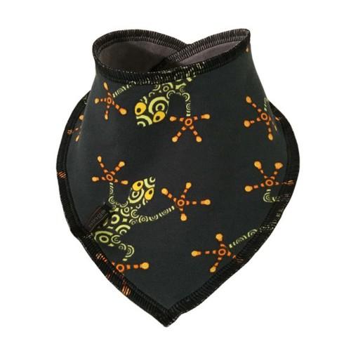 Reversible baby scarf, Frogs; Organic Cotton | bingabonga