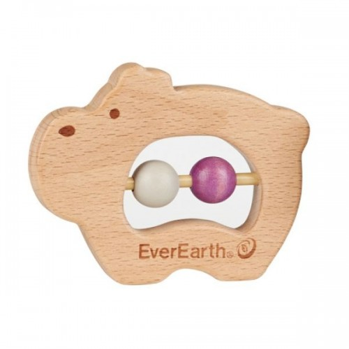 Eco baby grasping toy Hippo - FSC® wood | EverEarth®