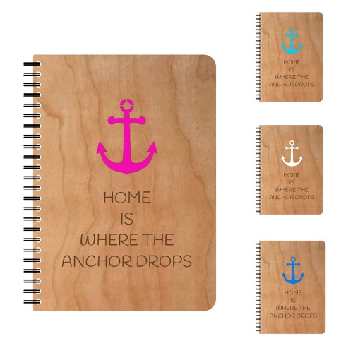ANCHOR eco notebook in cherrywood cover | echtholz