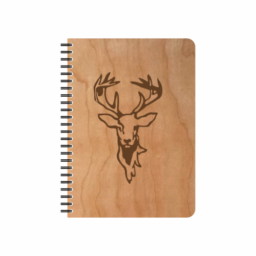 Eco Notebook STAG Cherrywood veneer cover & FSC® Paper | Echtholz