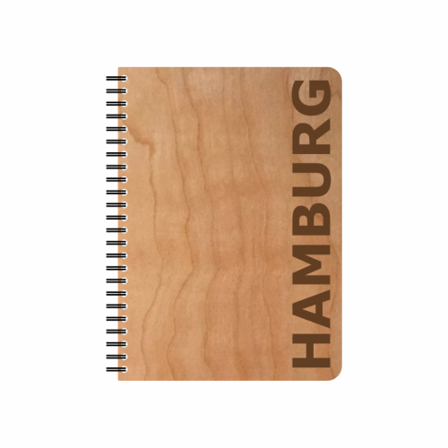 Eco Notebook HAMBURG Cherrywood veneer cover & FSC® Paper | Echtholz