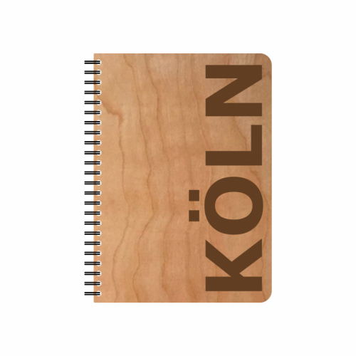 Eco Notebook COLOGNE Cherrywood veneer cover & FSC® Paper | Echtholz