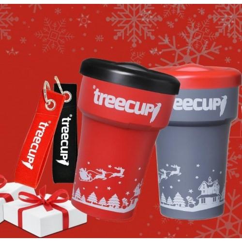 Nowaste Christmas Mug with heat protection sleeve - treecup