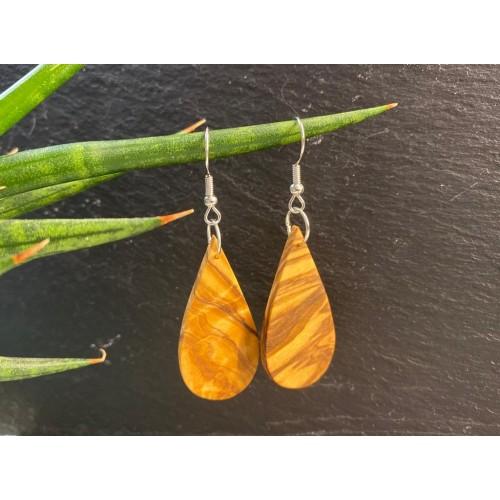 Eco-friendly Drop Earrings Olive Wood » D.O.M.