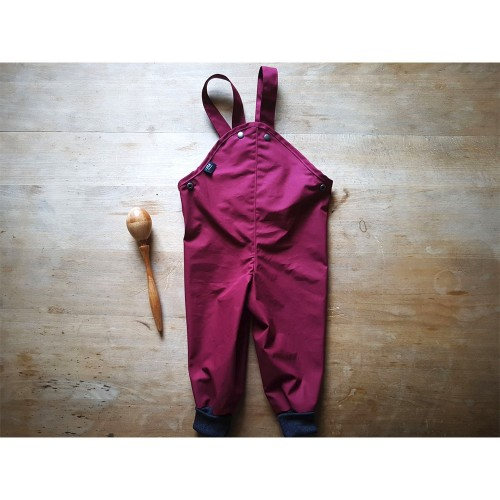 All-Weather Trousers with Cuffs, Eta-Proof Organic Cotton, berry | Ulalue