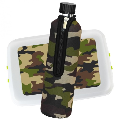 Eco Outdoor Set: Lunchbox & Drinking Bottle - Camouflage Design