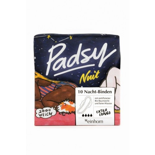 Padsy Nuit Organic Cotton Sanitary Pads for the night | einhorn