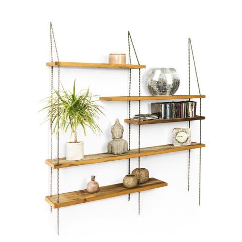 PAGMA Hanging Board - upcycled oak wood shelf | reditum