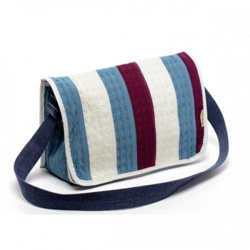 Small messenger bag Pamela of upcycled bra   Marron Rouge