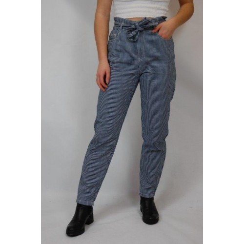 bloomers Organic Cotton Paperbag Trousers »ELKE«, blue-white striped