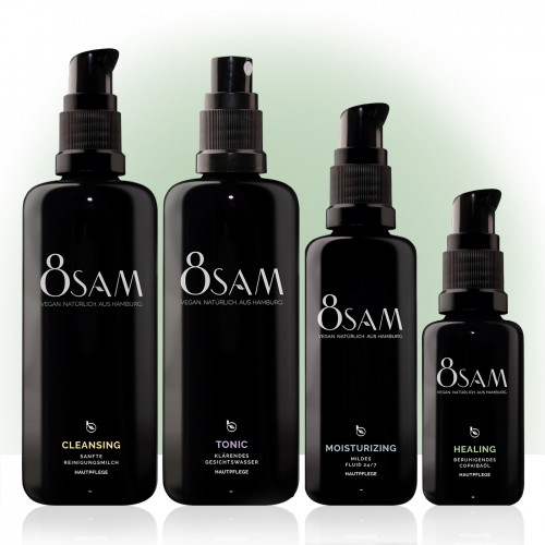 8SAM Mild Healing - vegan facial care set No5 | Blattkultur