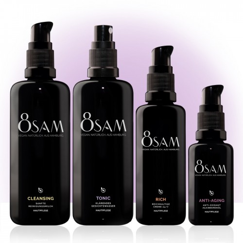 8SAM Rich Anti Ageing - vegan facial care set No4 | Blattkultur
