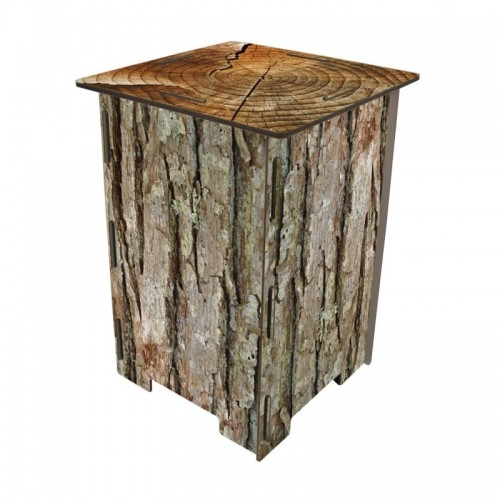 "Stool of MDF board with photo print ""Tree Bark"" 