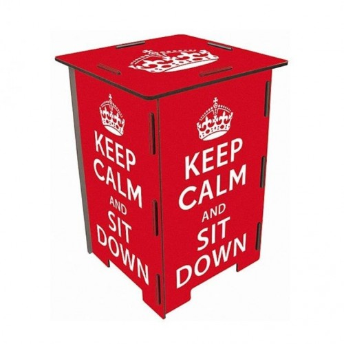 Photo Storage Stool KEEP CALM & Side Table | Werkhaus