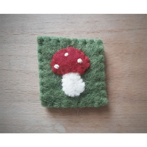 Eco Sew on Patch Wool Felt Mushroom | Ulalue