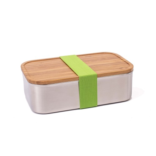 Premium Lunchbox Stainless Steel XL with Bamboo Lid & Strap | Tindobo