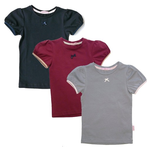 Girls Organic T-Shirt with Puff Sleeves | Ulalue