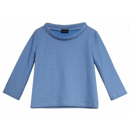 Organic Cotton Jacquard Sweater 60s style, light-blue | bill