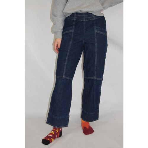 7/8 Denim Pull-On Trousers Irene, Elastic Waist | bloomers