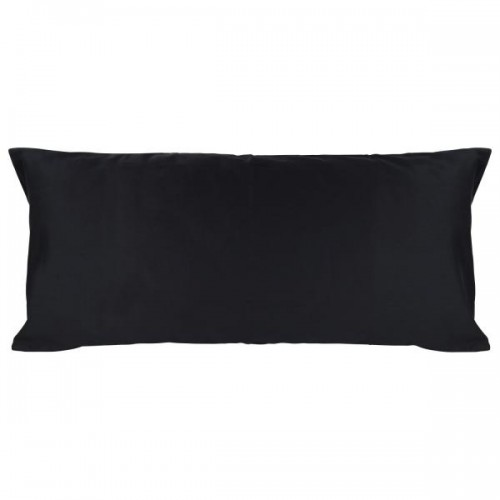 Pure Black Pillowcase of Certified Organic Cotton 40x80 cm | ia io
