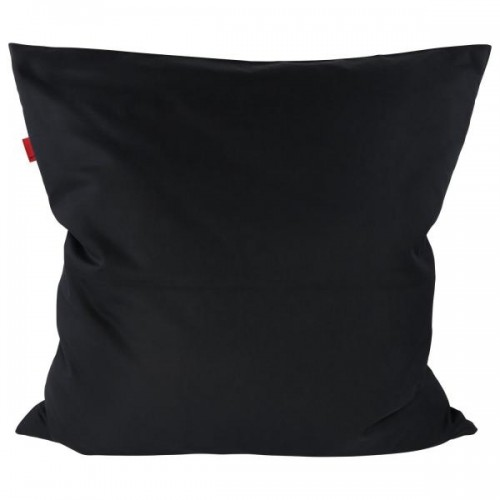 Pure Black Pillowcase of Certified Organic Cotton 80x80 cm | ia io