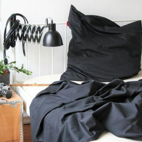 Pure Black Pillowcase of Certified Organic Cotton | ia io