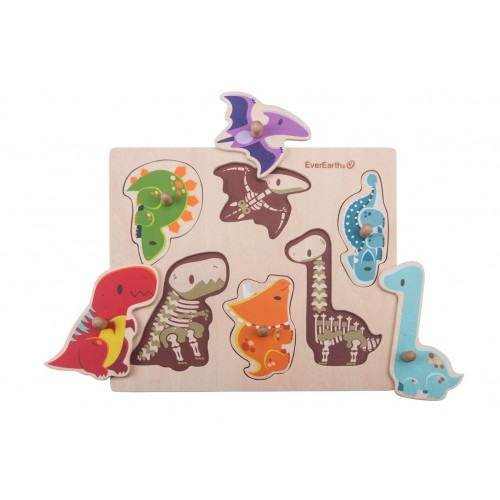 """EverEarth """"Dinosaur Peg Puzzle"""" - FSC® Wooden Toy"""