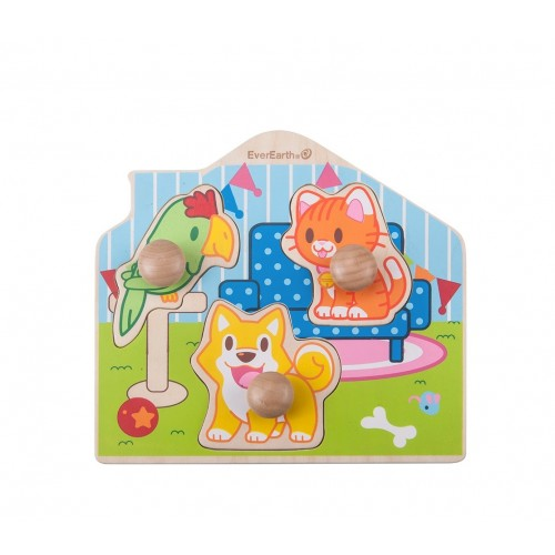 """EverEarth Wooden Puzzle """"Peg Pet"""" made of FSC® Wood"""