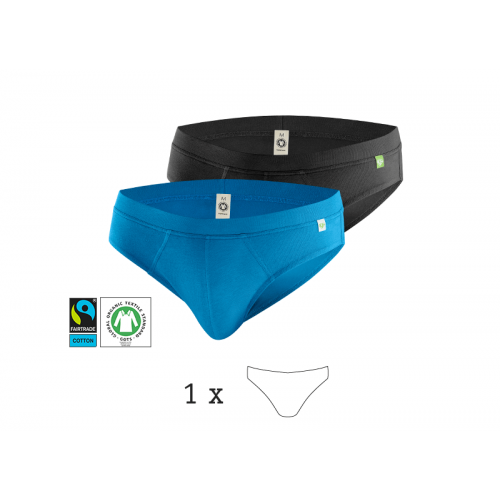 QuickSlip, 1 Pack Men's Briefs, Organic Cotton | kleiderhelden